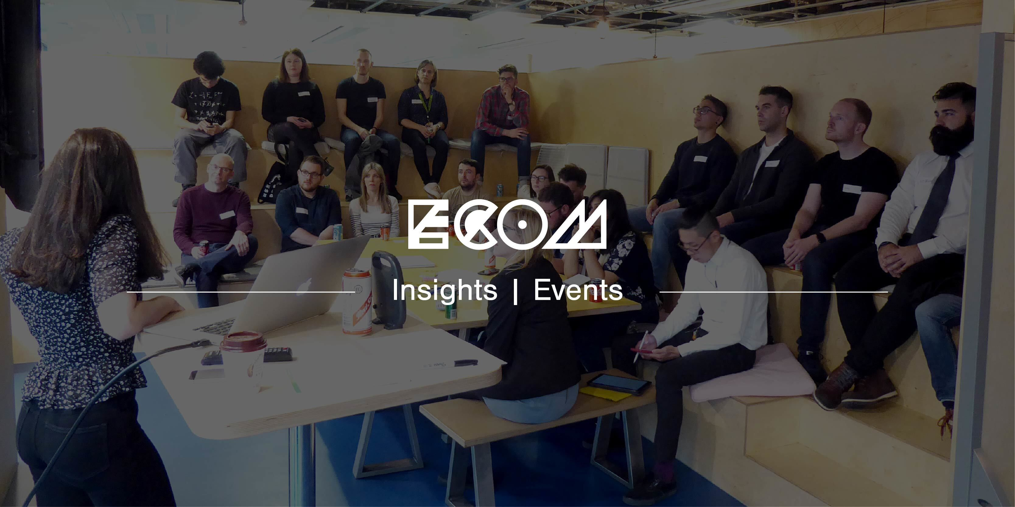 ECOM insight banner for an event blog about UX Sessions Manchester