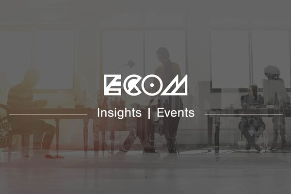 ECOM branded header banner for a blog about an IR35 Workshop event